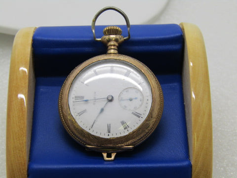 "Vintage Elgin Hunter's Pocket Watch, 10kt G.F., early 1900's WORKS, 2"" Long, Second Hand"