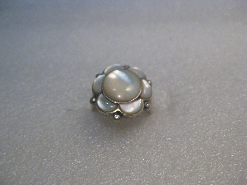 Southwestern Sterling Mother-of-Pearl Ring, size 6.5, 5.53gr., 1980's