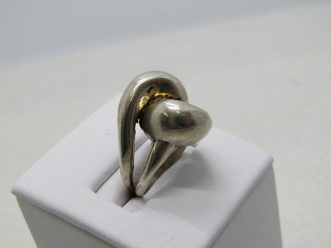 Vintage Sterling Silver Looped Ring, Size 4.75, 8.18 grams, 1980's
