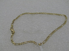 "18kt Solid Gold Figaro Bracelet, 8"", 2.7mm, 2.31 grams, MOM, Israel"