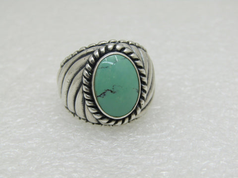 Carolyn Pollack Relios Turquoise Ring, Southwestern,  Sz. 8.25, 13.55 gr.