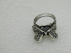 Sterling Mariposa Inlaid Butterfly Ring, Carolyn Pollack Relios Southwestern , Sz. 8.5, 16gr