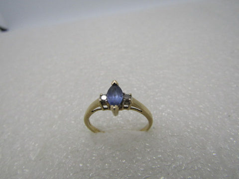 14kt LeVian Tanzanite Diamond Ring, Marquise, .50 ctw, Size 6.5, 1.98 gr.
