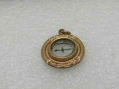 "Victorian Gold Filled Compass, Pendant or Fob, 1.25"" Long, 5.20 gr., Estate Find"