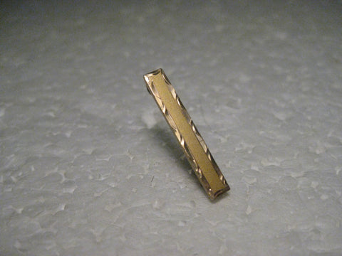 "Vintage Pair of 10kt Gold Art Deco Bar Brooches, C-Clasp, 1"" long, .78 gr. early 1900's"