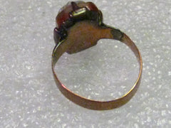 Victorian/Art Noveau 12-14kt Rose Gold Cameo Ring, size 4, 2.66 grams,
