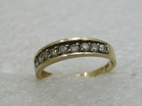 Vintage 14kt Diamond Anniversary Ring/Band, Sz. 7
