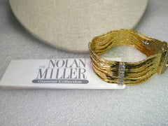 "Nolan Miller Glamour Collection 14 Strand Bracelet with Rhinestone Accents, 7.5"" in Box"