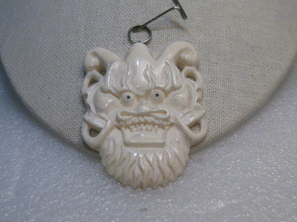 Vintage chinese lion carved bone pendant 3 with bale 2 wide vintage chinese lion carved bone pendant 3 with bale aloadofball Gallery