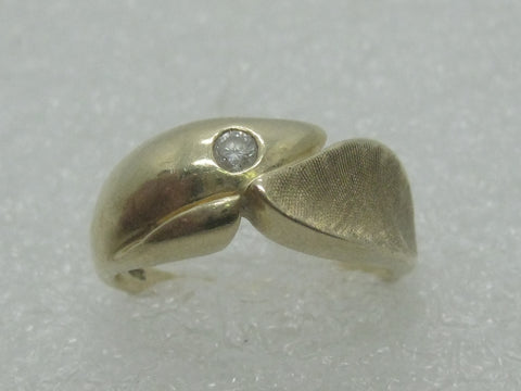 Vintage 14kt Diamond Band/Ring, Men/Ladies, Wedding Band, Signed KMTZ, Sz. 9.25, 1980's