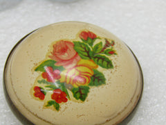 "Vintage Floral Bridle Button/Rosette Brooch, 1.75"" Across, Early 1900's"