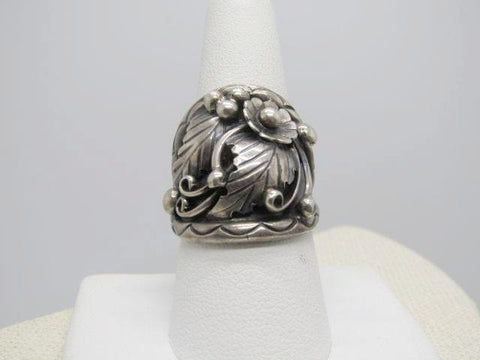 Sterling Silver Fred James Navajo Ring, Cigar Band,  Size 9.5, 10.26 gr. Unisex