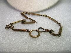 True Vintage Early 1900's Watch Chain, Gold Filled, 13""