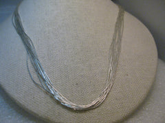 "Sterling Silver Carolyn Pollack Necklace,  Southwestern, Liquid Silver, 24"" Multi-Strand, 12.24 grams"