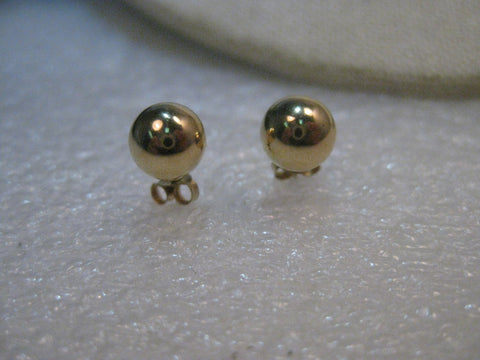 14kt Solid Gold 7mm Gold Stud Earrings, .43 Grams