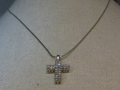 "10kt Diamond Cross on 14kt Gold Chain, 18"",  34 diamonds, .34 tcw"