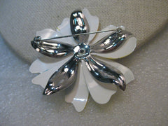 1960's Enameled Floral Tiered Brooch, Sarah Coventry, Pastel, 2.25""