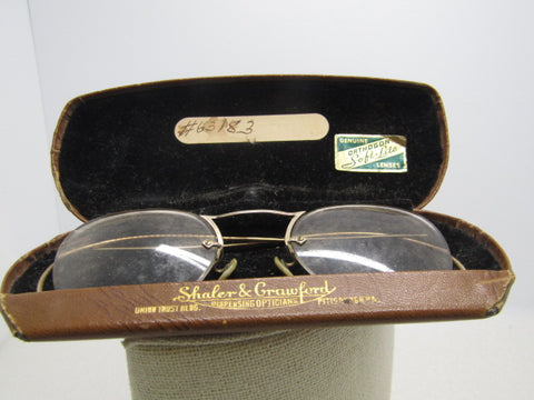 Vintage Orthogon Soft Lite Wire Rim Eyeglasses, 1/10 12kt GF. In Case. Pre 1950's