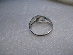 Vintage Beau Sterling Silver Wrapped Adjustable Ring, 5-8, 1970's, 3.44 grams