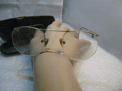 Vintage  Eye Glasses, 1920's-1930's, Bifocals, 1/10 12kt G.F. In Case
