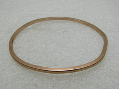 "10kt Victorian Bangle Bracelet, Rose Gold, 7"", 6 grams, 1893, Pottsville, PA"