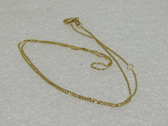 "Vintage 14kt Milor Ball Link Necklace, 18"", 1.79 Grams, Signed Milor, Italy, .8mm _Adj. 16""-18"""