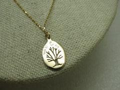 "14kt Tree of Life Necklace, 18"", 3.28 Gr., Signed MKS D"