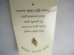 This Little Angel Tack Pin, goldtone, on card, Friends, Inc, 1996