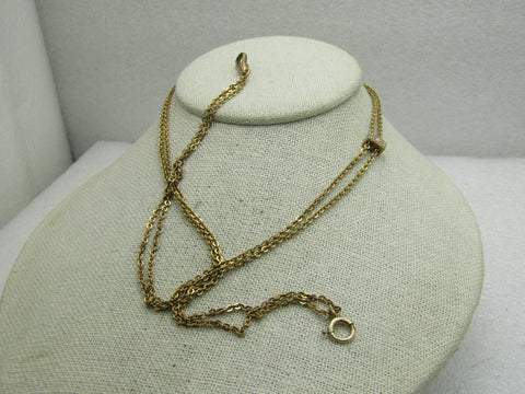 "Victorian Ladies  Seed Pearl Watch Chain with Slide, 48"", 1/20 12kt G.F."