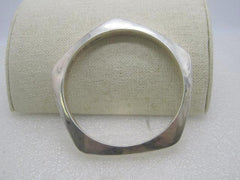 "Vintage Sterling Silver Modernist Bracelet, 5-Sided,  Mexican, 32.56 gr. 7.5"", 7.5mm thick"