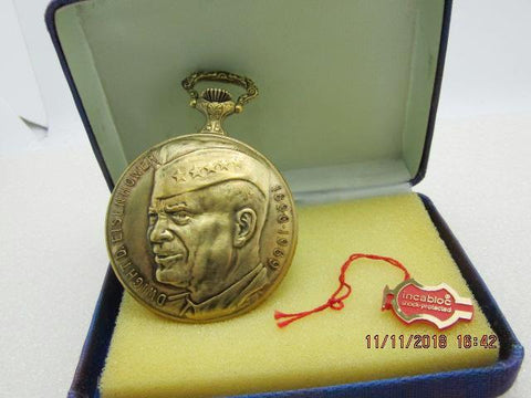 Arnex Eisenhower Memorial Pocket Watch, 17 Jewels, Arnex, Incabloc, No. 3390, Works, Swiss