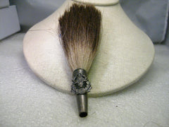 Vintage German Hunter's Hat Brush  Brooch, St. Hubertus  with Antelope? Hair