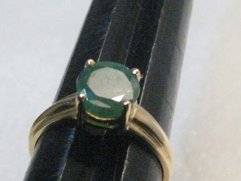 14kt Gold Emerald Solitaire Ring, appx. 1.75ctw, size 8.25, 3.02gr.