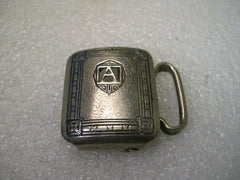 Vintage Sterling Silver KantSlip Letter A Art Deco Belt Buckle, Sterling Front, and Nickle Silver, signed May 26, 1925