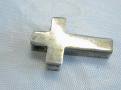 Vintage Sterling Silver Chunky Cross Pendant -2.17 gr.