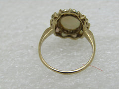 10kt Opal Halo Ring, Size 6, Early 1900's