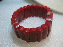 Time Will Tell, NY,  Red Watch, Stretch Band, Resin that looks like Bakelite