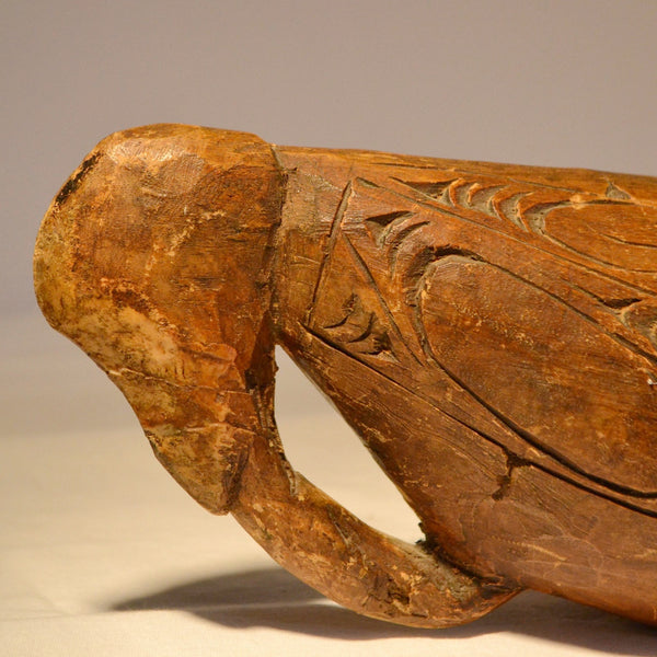 polynesian wooden vessel wood carving