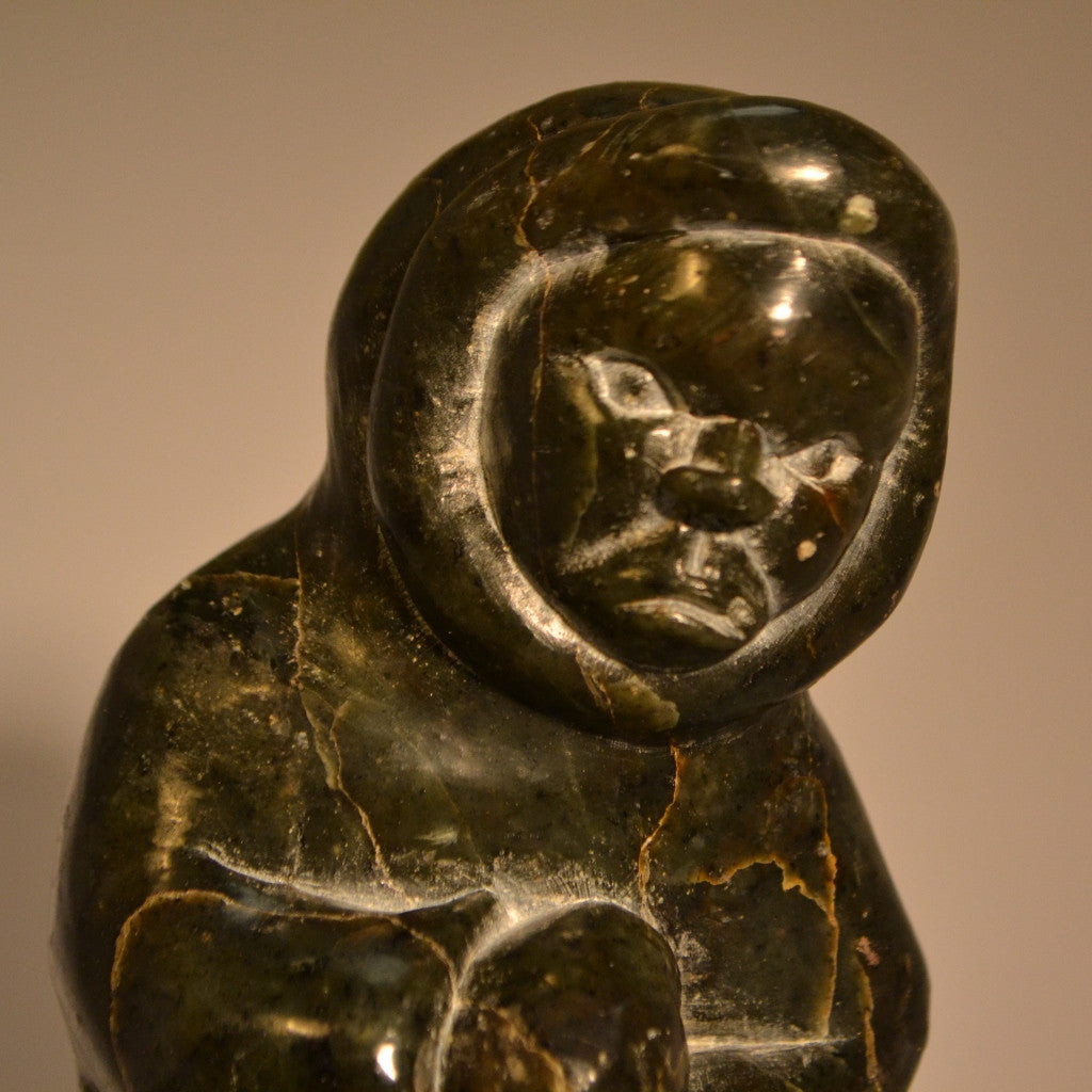 Grumpy Hunter inuit carving