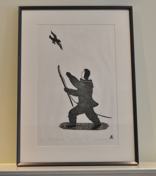 Calling to a friend inuit print