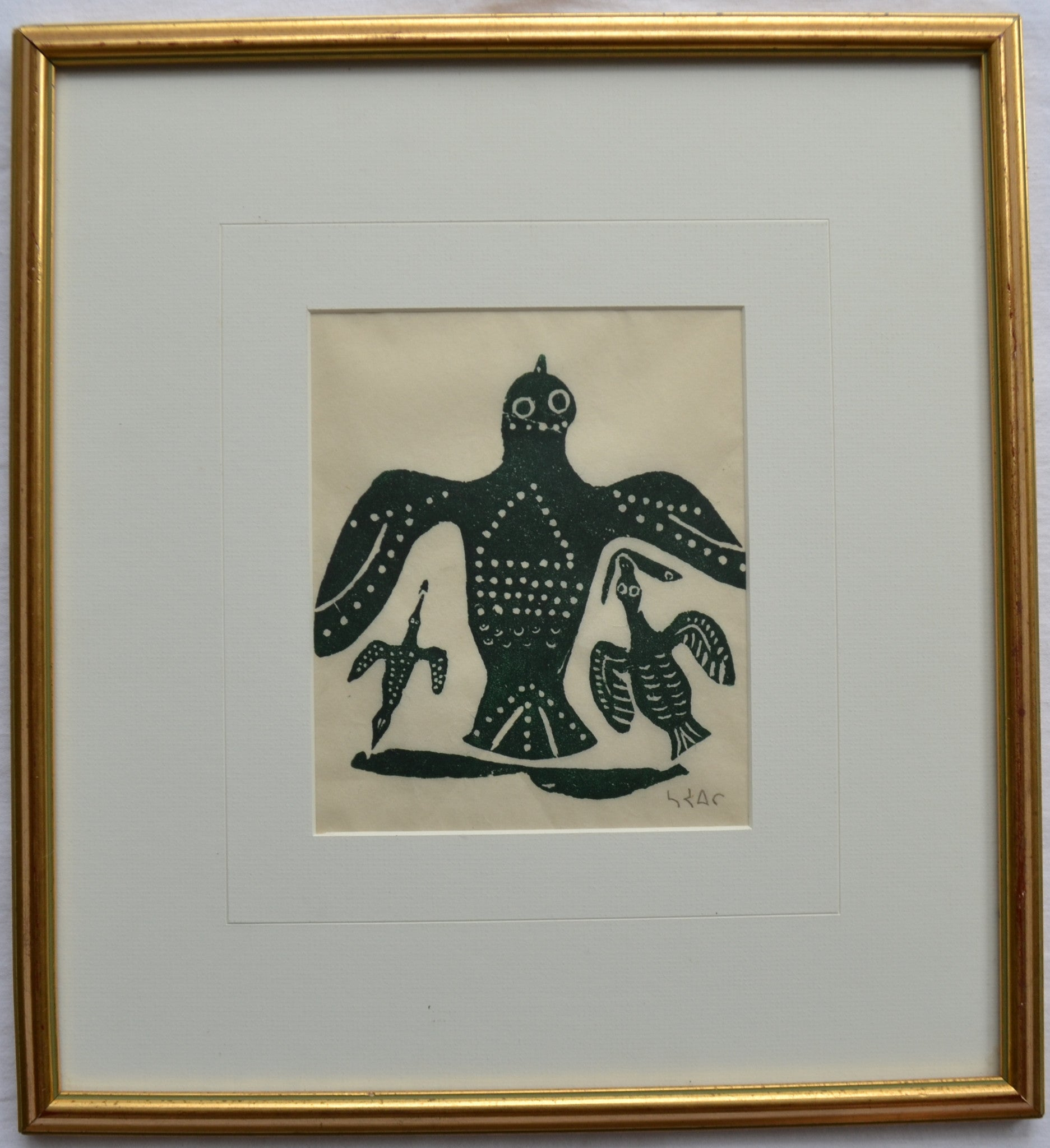 Fishing Birds Inuit Print by Moatyaq - Langford Gallery