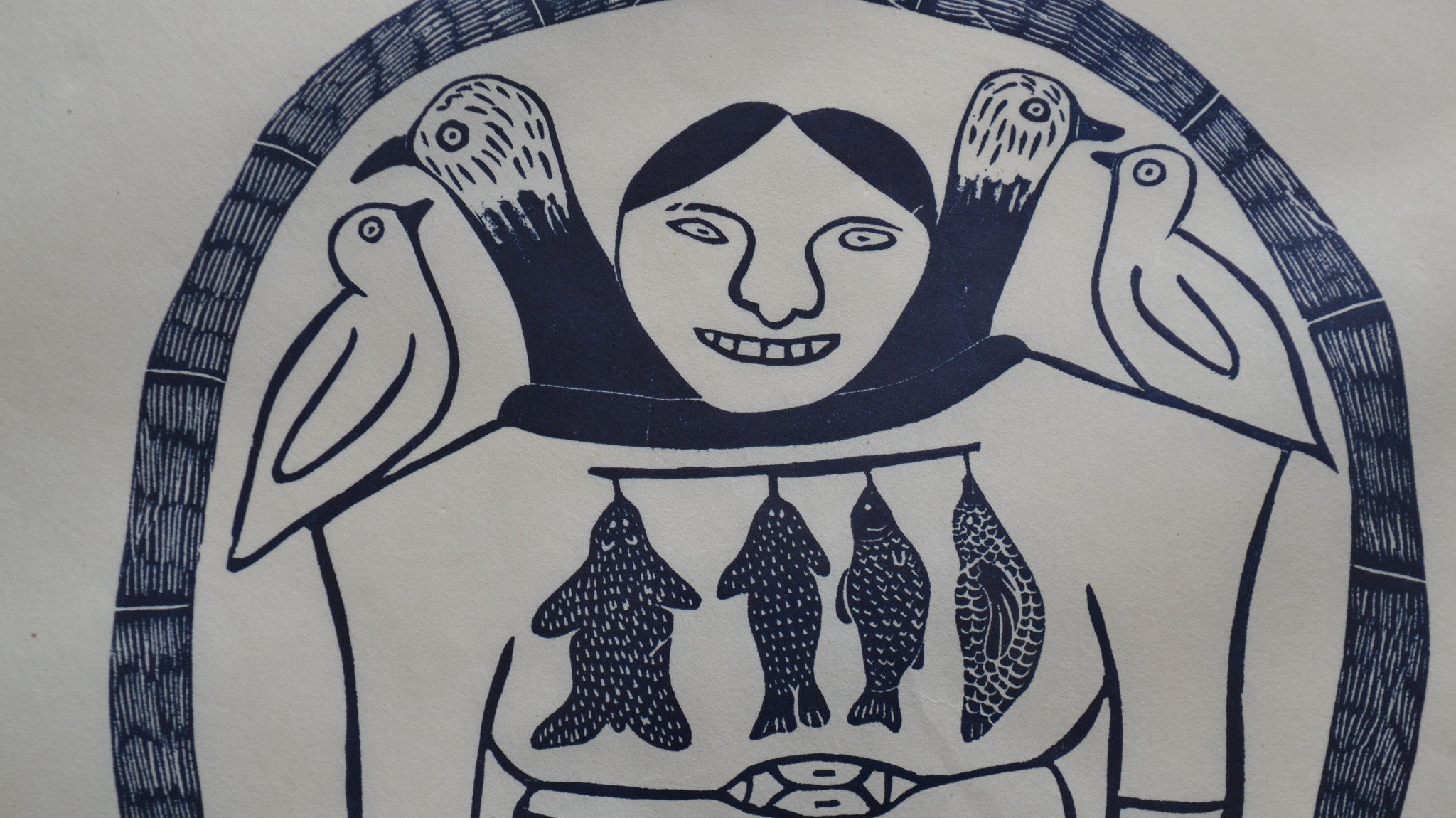 Magic Power Inuit Print by Helen Kalvak - close up