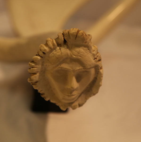 Swimming sedna carving in antler