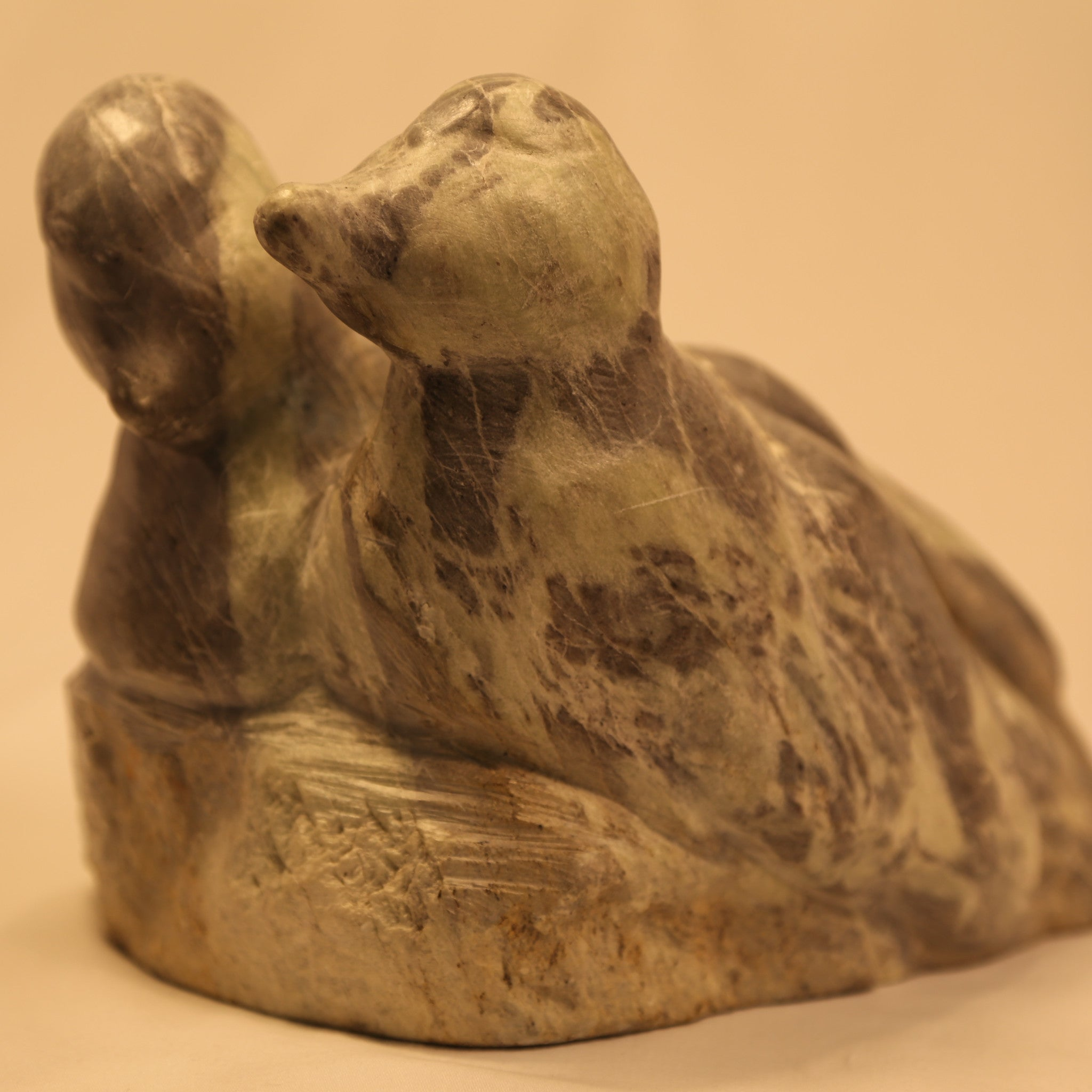 Eider Ducks Inuit Carving