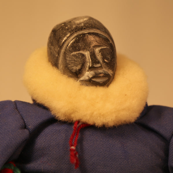 Inuit Doll with Stone Head