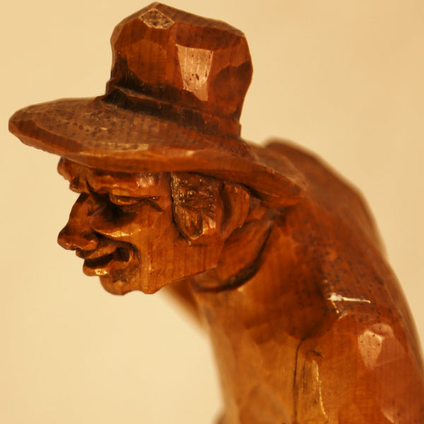 Village Character wood carving