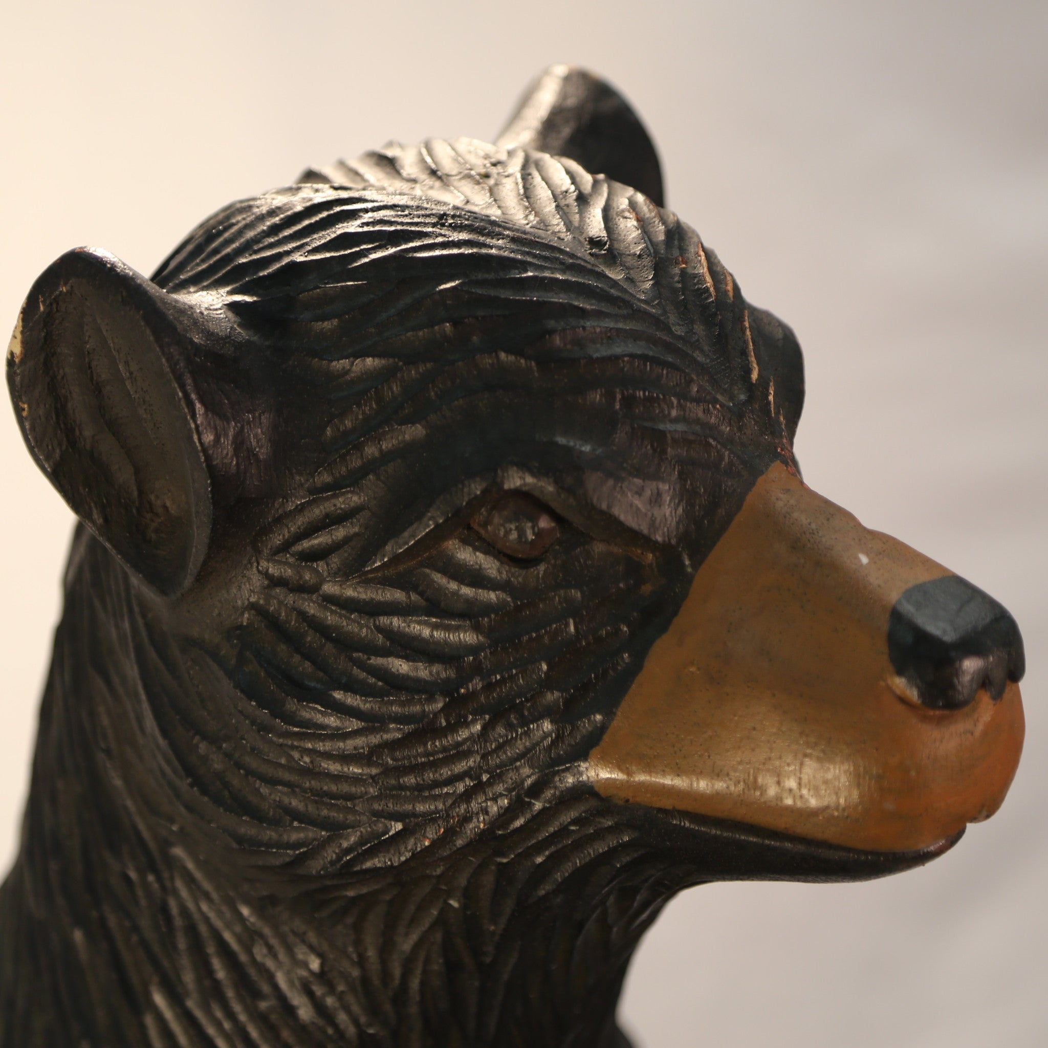 Big Black Bear carving