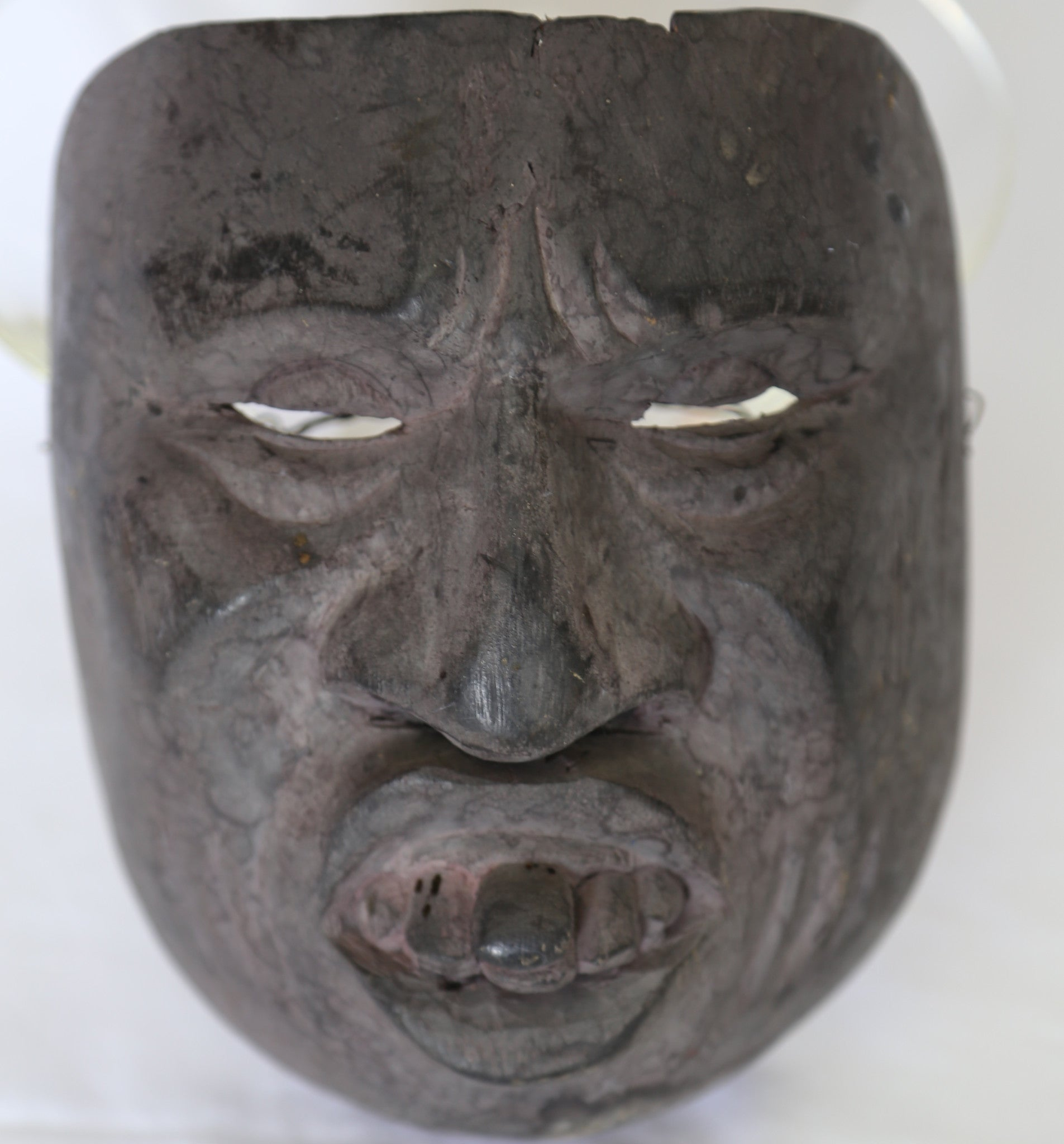 Asian Gray Deformed Mask
