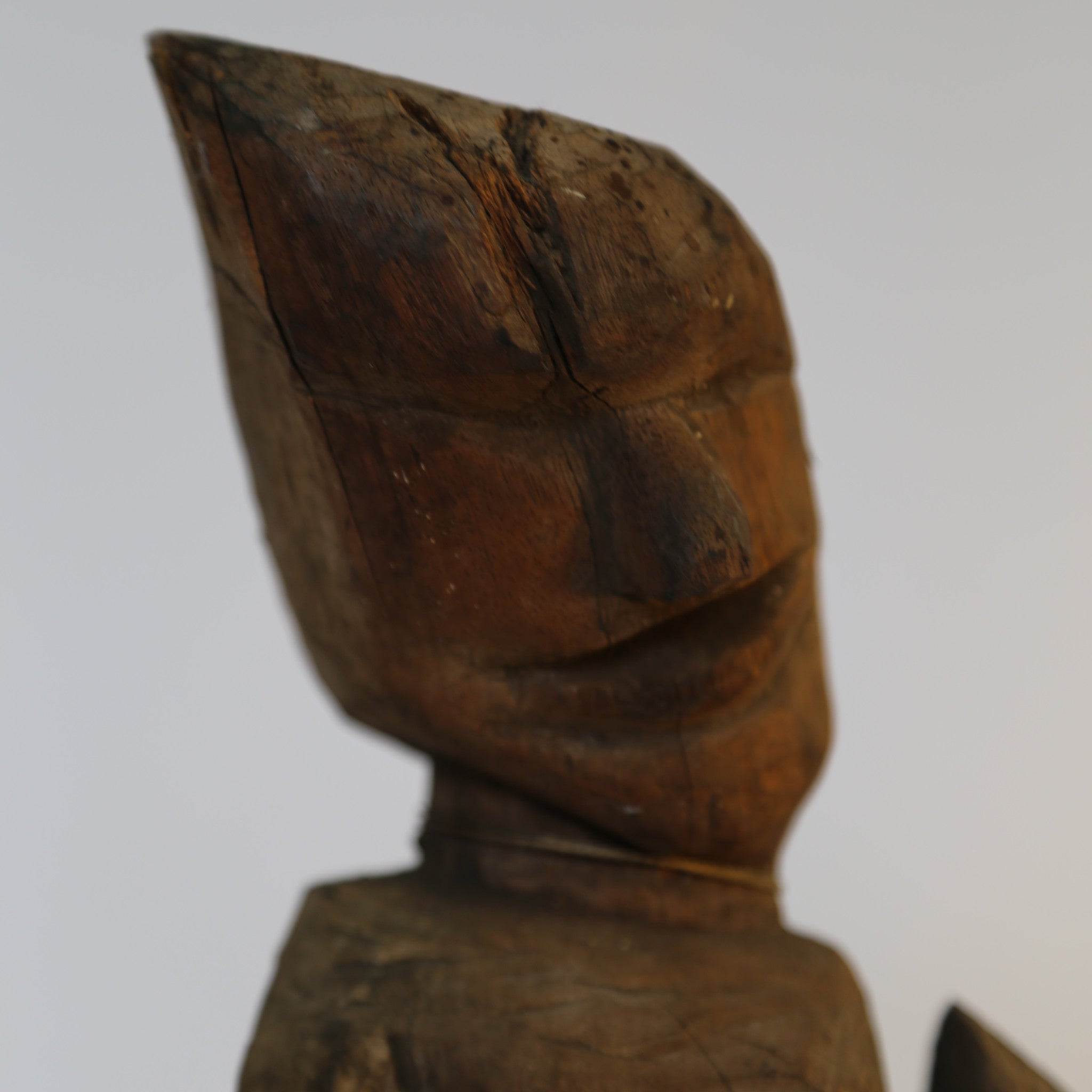Indonesian Pointy Head Man - Wood Sculpture