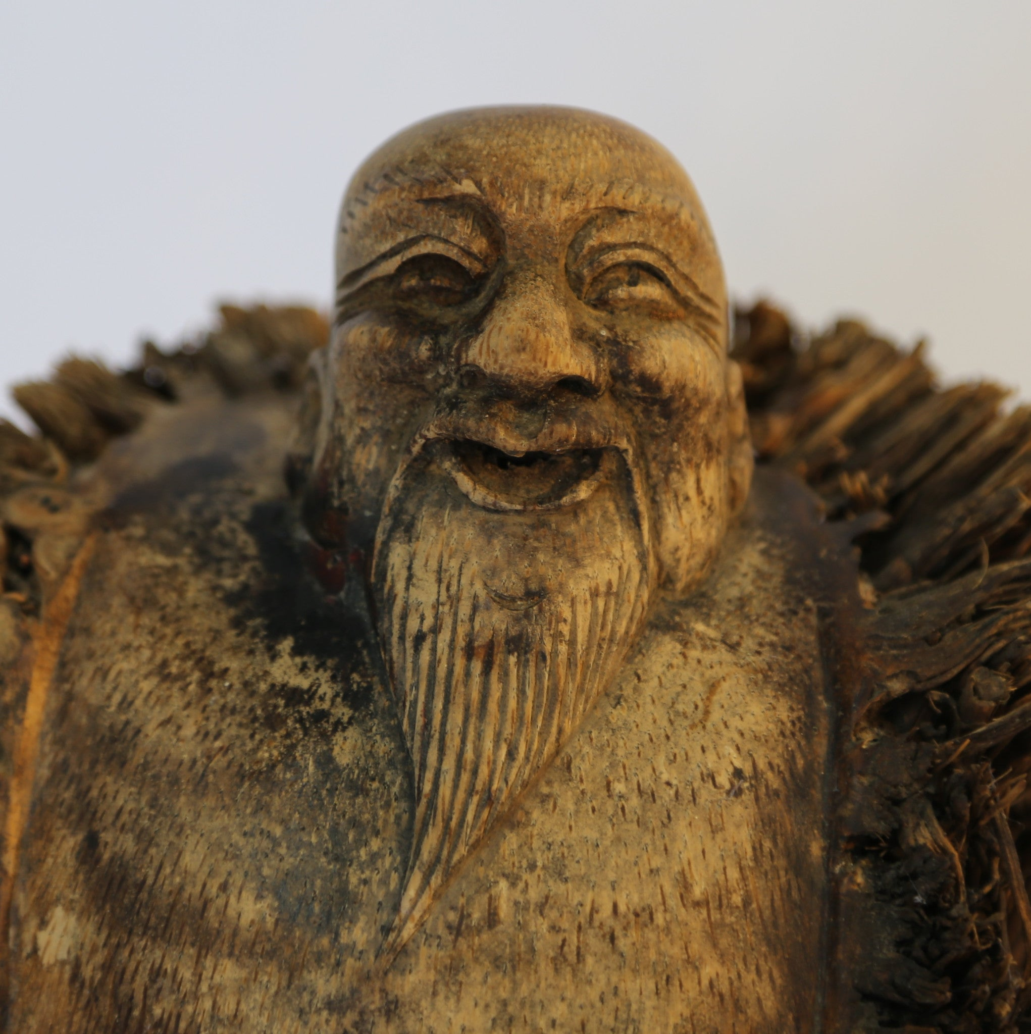 Chinese Fisherman in bamboo carving